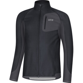 GORE WEAR R3 Partial Gore Windstopper Shirt Men black/terra grey